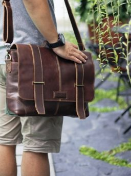 MALDINI Briefcase on Darkbrown
